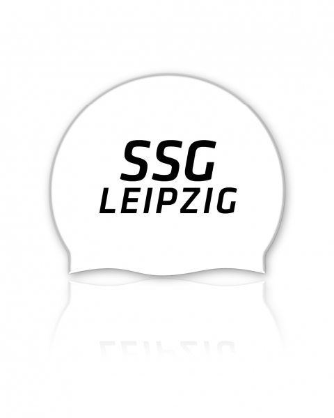 Team Badekappe weiß   SSG Leipzig