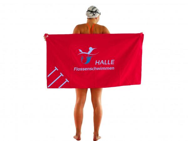 Mikrofaser-Handtuch, rot | Halle Flossenschwimmen