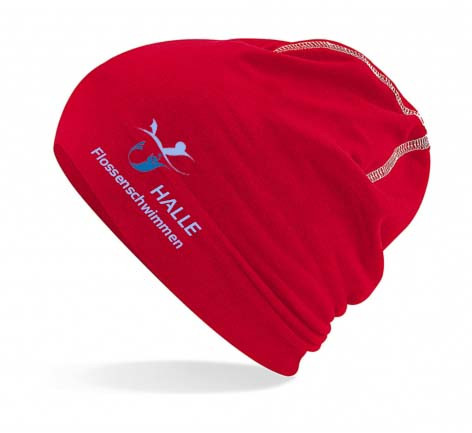 Sport Beanie, rot | Halle Flossenschwimmen