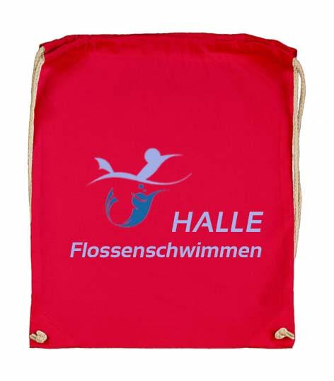 Halle - Flossenschwimmen | Sportbeutel rot