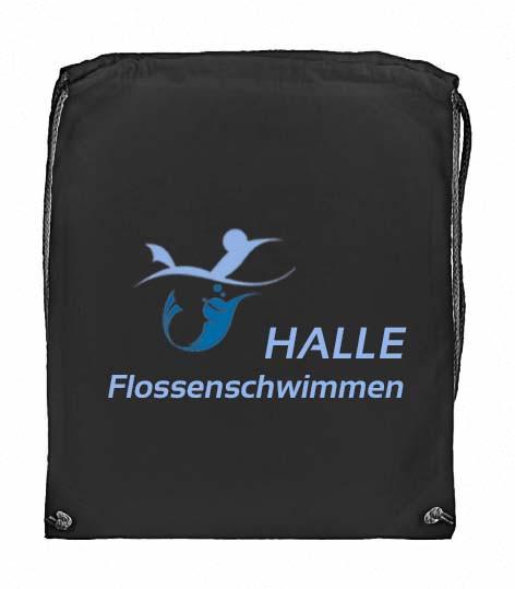 Halle - Flossenschwimmen | Sportbeutel schwarz