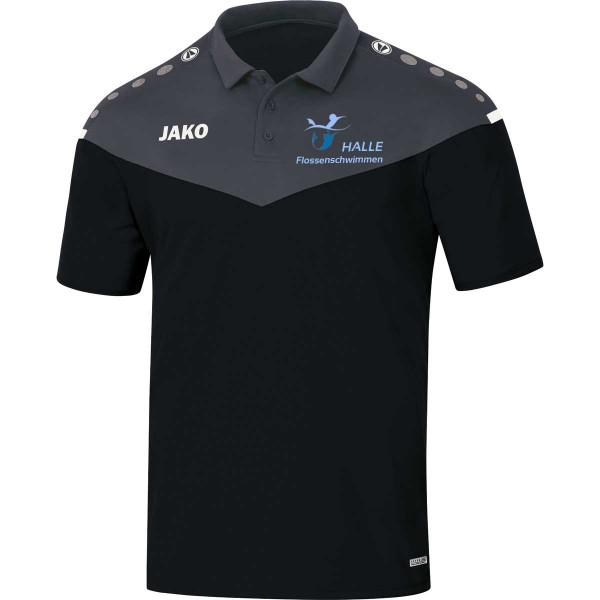 Polo-Shirt, Damen, Herren, Kids, schwarz | Halle Flossentauchen