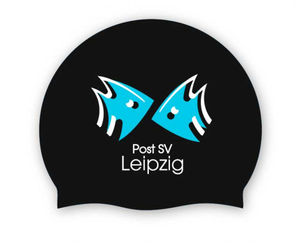 Team Badekappe schwarz | Post SV Leipzig