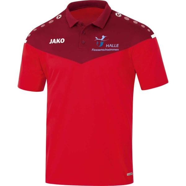 Polo-Shirt, Damen, Herren, Kids, rot | Halle Flossentauchen